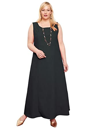 30b3a1be2d8 Jessica London Women s Plus Size Denim Maxi Dress at Amazon Women s ...