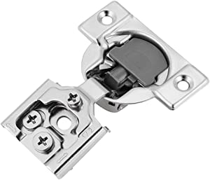 Luokim 20pcs Soft-Close Face Frame Hinges with Built-in Damper,1/2'' Overlay,Cabinet Concealed Hinges,Nickel Finish