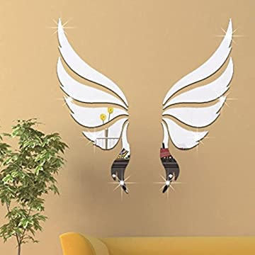 Mirror Wall Sticker - 1 Set Wall Stickers Decoration Wall Bedroom Living Room Decoration