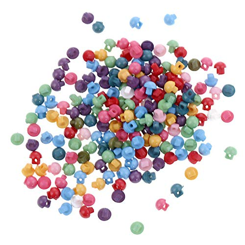 200X Pcs Mixed 5mm Tiny Mini Buttons for DIY Doll Wear Clothes Sewing Hand Craft (Xuanze - #06) -