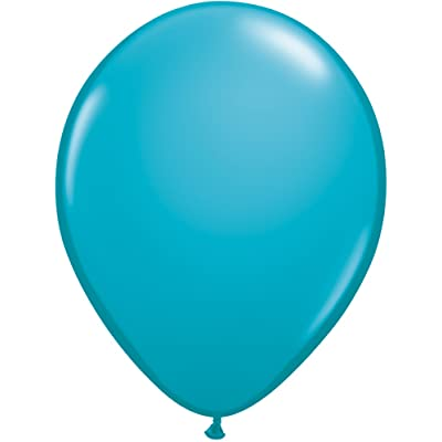 Qualatex 43799.0 100-Count Latex Balloon, 11-Inch, Tropical Teal: Kitchen & Dining