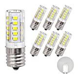 led appliance light bulb - DiCUNO E17 LED Bulb, Appliance Bulbs, Microwave Oven, Stovetop Light, 4W 400lm, Daylight White 6000k, 40w Equivalent Replacement Incandescent Bulb, 6-Pack.