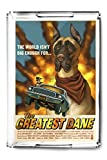 Great Dane - Retro Movie Ad (Acrylic Serving Tray)