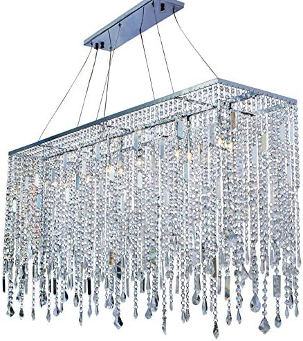 48 Inch Chrome Rectangular Naples Chandelier