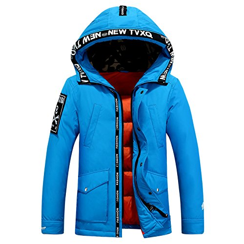Padded Winter Blue Outwear Warm Coat Casual Coat Men's Lsm Hooded Jacket Thick Sky WRn40wBOa