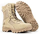 RYNO GEAR Tactical Combat Boots with Coolmax Lining (Beige) (8, 6)