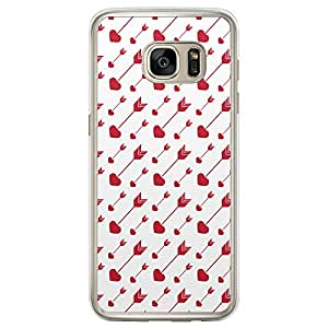Loud Universe Samsung Galaxy S7 Edge Love Valentine Files Valentine 65 Printed Transparent Edge Case - White/Red