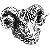 Bishilin Stainless Steel Animal Goat Head Rings For Men and Boy Size 13