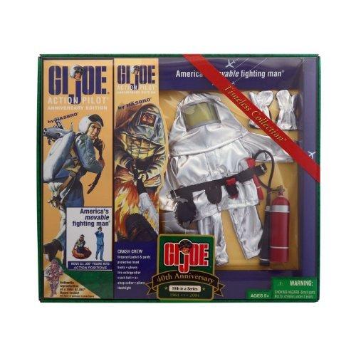 "12"" GI Joe Action Pilot and Crash Crew Set 40th Anniversary Action Figure (2004 Hasbro)"
