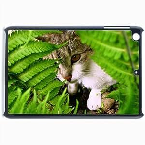 Customized Back Cover Case For iPad Mini 2 Hardshell Case, Black Back Cover Design Cat Personalized Unique Case For iPad Mini 2