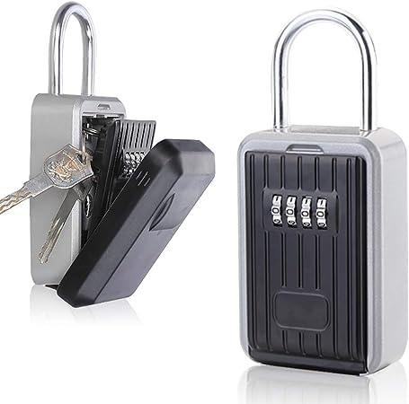 YChoice365 Caja Fuerte para Llaves,Caja de Seguridad Combinación de 4 dígitos,Prueba de Agua Caja de Seguridad Llaves en la pareds, Adecuada para el Hogar,el Garaje y la Granja (con Gancho): Amazon.es: Hogar