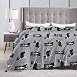 """SteCury Throw Blanket, Luxury Cozy Fleece Blanket, Warm Super Soft Comfort Caring 60"""" x 80"""", Border Collie Dog Breed Pet Lovers Sewing Projects Grey 8"""