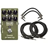 MXR M81 Bass Preamp Effects Pedal w/ 4 Cables
