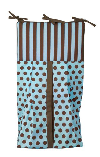 Tadpoles Damask Diaper Stacker, Blue/Brown