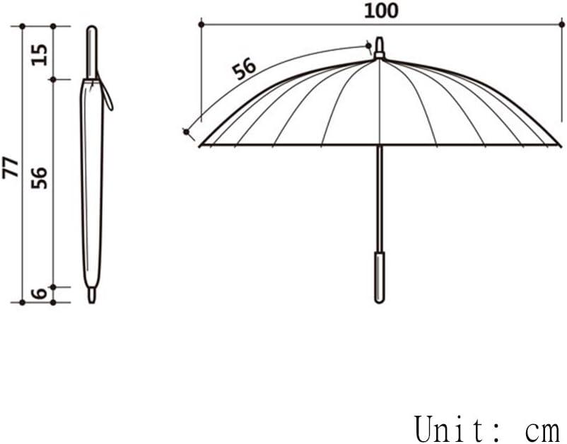 Automatic Open Stick Umbrellas Windproof UV Protection 24 Ribs Fiberglass Frame,for Men Women and Kids,Black KEOA 39Inch Wooden Handle Umbrella