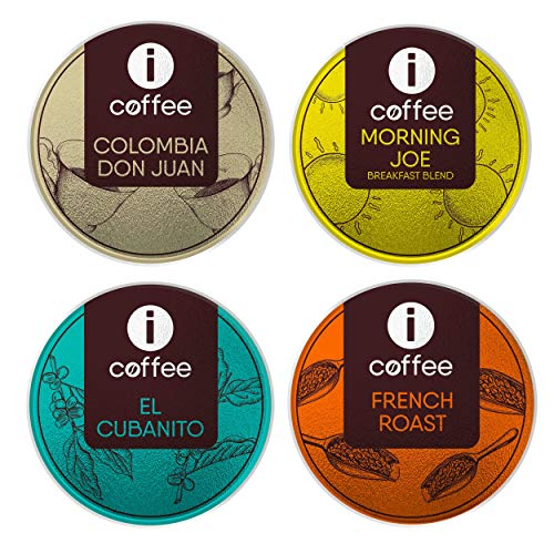 Kcups variety pack - Single Serve Coffee K-Cups Pods (Breakfast Blend - French Roast - Dark Roast - Medium Roast) Compatible with all Keurig Coffee Machines - 80 Count
