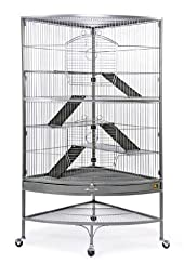 Prevue Hendryx 490 Pet Products Corner Ferret Cage, Black Hammertone
