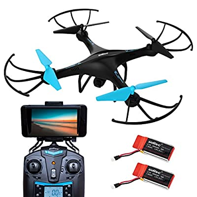 Force1 U45W Blue Jay Wi-Fi FPV Drone w/ HD Camera, Altitude Hold & 1-Key Takeoff/Landing; VR Headset-Compatible Drone w/ Customizable Route Mode