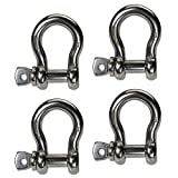 Stainless Steel Anchor Shackle - 5/8'' Screw Pin - 2.0 Ton Type 316