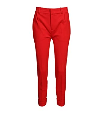 727f03da229d Drykorn Damen Hose Emom in Rot 55 red 29W / 34L: Amazon.de: Bekleidung