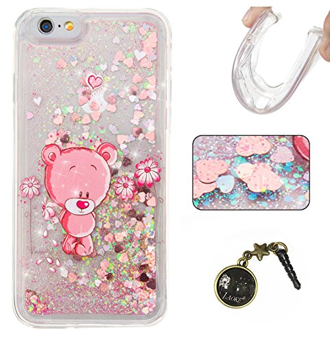 "Laoke Carcasa para iPhone, Funda TPU, flores, Premium, piel sintética, 4, iphone6(4.7"") 8"