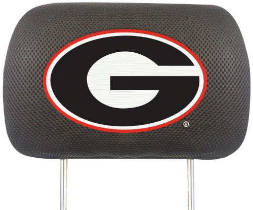 FANMATS  12566  NCAA University of Georgia Bulldogs Polyester Head Rest Cover Bulldog Head