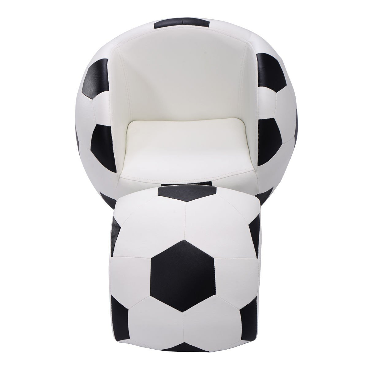 Svitlife Football Shaped Kids Sofa Couch with Ottoman Shape Children Toddler W Birthday Gift