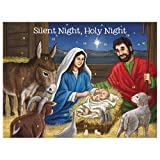 Christmas Decorations Silent Night Nativity Scene Religious Advent Calendar, Pack of 12