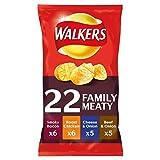 british potato crisps - Walkers Meaty Variety Potato Crisps 22 Pack