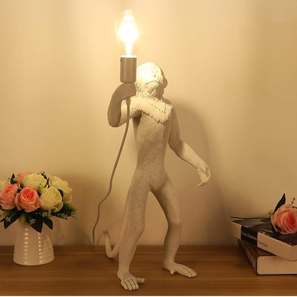 Unbekannt Kreative AFFE Tischlampe Harz Tischlampe Persönlichkeit Kreative Restaurant Hotel Kinderzimmer Hanfseil AFFE Tischlampe,L