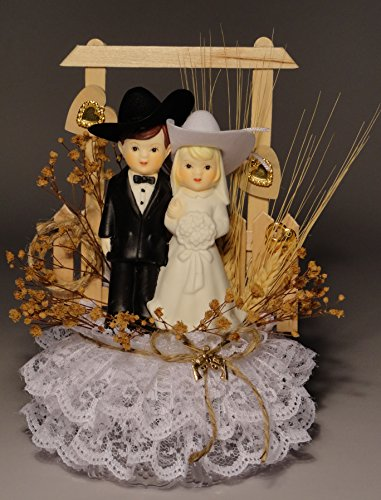 Charm Wedding Unity Candle - Western Pride Personalized Western Wedding Cake Topper