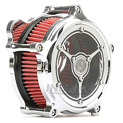 Chromed see through air intakes for harley softail breakout 2020-2020 air filters FLHR road king road glide FLTR touring models 2020-2020: Automotive