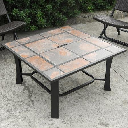 Amazon.com: Axxonn 2 In 1 Malaga Square Tile Top Fire Pit And Coffee Table:  Garden U0026 Outdoor