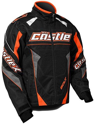 Castle X Bolt G4 Youth Boy's Snowmobile Jacket Orange LRG by Castle X