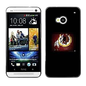 PIG - FOR HTC One M7 - Washington Redskin NFL - Dise???¡¯???€????€????¡Ào para el caso de la cubierta de pl???¡¯&A