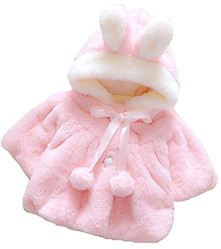 Baby Girl Cotton Autumn Winter Warm Coat Cloak Jacket Clothes - 5