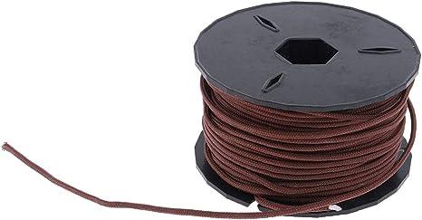 CUTICATE 3 Hilos Cuerda de Paracaídas Cordón de Nylon para El Aire Libre, Camping Diámetro: 2 mm - marrón