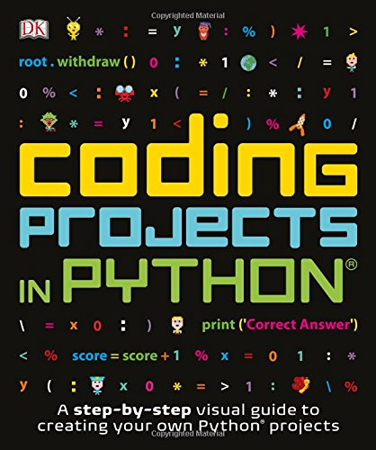 Book cover of Coding Projects in Python by DK