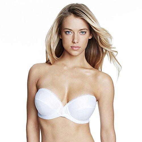 (Dominique Satin Underwire Strapless Bra Style 8103 - White - 32A)