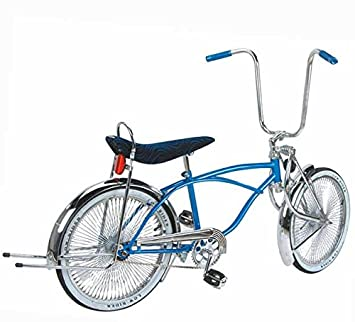 20in Blue Mens Lowrider Bike Blue Banana Seat And