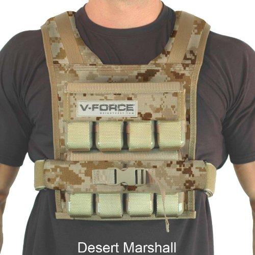 40 Lb V-Force Basketball Weight Vest (Desert Marshal)