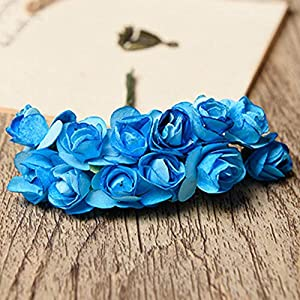 Scrap - 12pcs Mini Paper Rose Handmake Artificial Flower Bouquet Wedding Decoration Diy Wreath Gift Scrap - Artificial Flowers Dried Artificial Dried Flowers Journal Lock Paper Flower Wedding 74