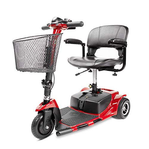 Furgle 3 Wheels Electric Scooter for Adults Power Mobility Scooter Heavy Duty Seniors Travel Scooter (Red)