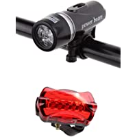Bike Bicycle Led Power Beam Front Head Light and Tail Torch Back Light