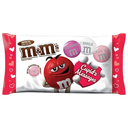 M&M's Valentine's Milk Chocolate Candy Cupid's Messages Mix, 9.5 Ounce, Pack of 4