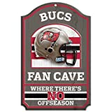 WinCraft NFL Tampa Bay Buccaneers Wood Sign, 11'' x 17''