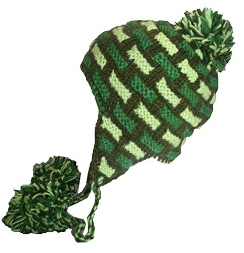 Agan Traders 1406 H Wool Knit Beanie Cap Hat (One Size, Green M)