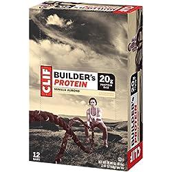 CLIF BUILDER'S - Protein Bar - Vanilla Almond - (2.4 Ounce Bar, 12 Count)
