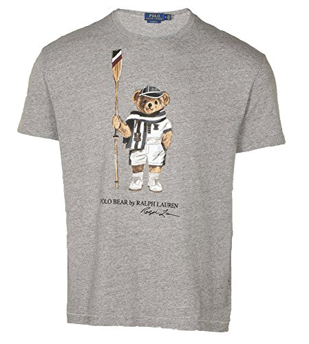 Polo Ralph Lauren Men's Limited Polo Bear T-Shirt-Grey/Boathouse-Large