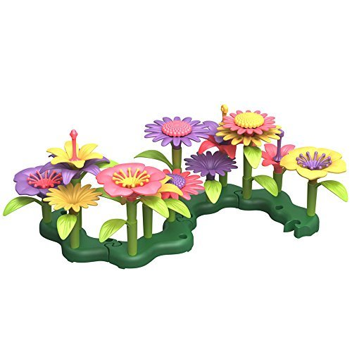 Green Toys Build a Bouquet Flower Set for Children - Arts & Craft Toys for Toddlers by Green (Build A Flower Bouquet)
